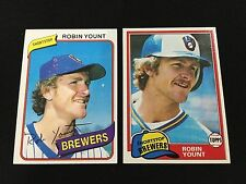 ROBIN YOUNT 1980 & 1981 TOPPS MILWAUKEE BREWERS VINTAGE BASEBALL CARDS