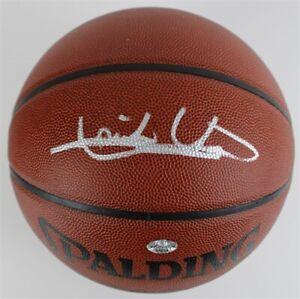 Isiah Thomas Signed Spalding NBA Full Size Basketball (JSA COA) HOF 2000 Pistons
