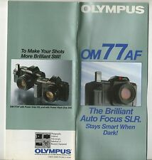 Photography Reference Guide For Olympus OM77af