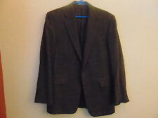 Men's Hickey Freeman Brown/Black 85% Wool/15% Cashmere Sport Jacket-39R