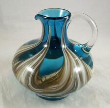 alte Vase von Zwiesel mit Henkel, massives Glas, 20 cm, 1.810 g schwer