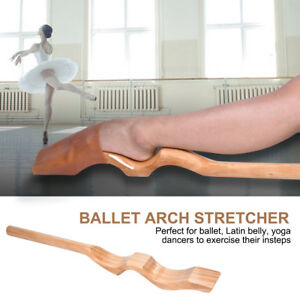 Wooden Ballet Foot Stretcher Arch Enhancer Gymnastics Dance Elastic Band Fitness