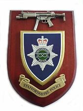 Staffordshire Police Force with Pewter MP5 Military Wall Plaque