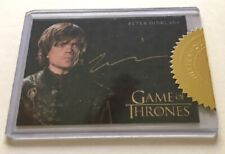 Peter Dinklage Gold Autograph as Tyrion Lannister Game of Thrones, Incentive