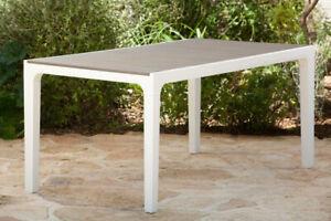 KETER Tavolo da Giardino Resina 160 cm Bianco Tortora - Harmony