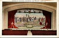 San Antonio Texas~Interior Of Municipal Auditorium~Stage Curtain Mural~1920s