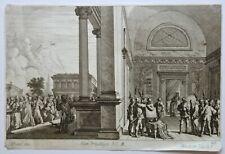 Melchior KUSELL d'après BAUR, Jésus prisonnier, Pilate, évangile, eau forte XVII