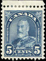 1930 Mint H Canada 5c F+ Scott #170 King George V Arch/Leaf Stamp