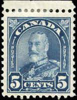 1930 Mint H Canada 5c F+ Scott #170 King George V Arch/Leaf Stamp