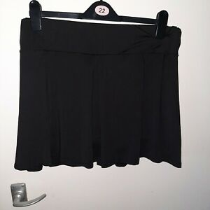 Lycra mini skirt with built in shorts