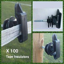 100 x électrique escrime bande isolateurs poly ruban 20mm 40mm