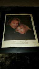 Barbra Streisand Don Johnson Til I Loved You Rare Radio Promo Poster Ad Framed!