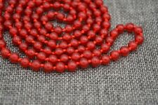 "36"" Beautiful 6mm Brazil red ruby Gemstone Beads Necklace JN291"