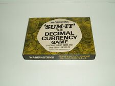 "Vintage ""Sum-it"" card game by Waddingtons 1968."