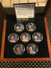 Rare 2016 Star Trek 50Th Anniversary 24K G.P Silver Eagle Set W/ Cast Members