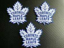 (3) TORONTO MAPLE LEAFS NHL UNIFORM PATCH PATCHES NEW MINT SEW IRON ON VINTAGE