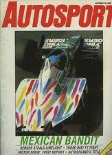 Autosport Oct 16th 1986 *Mexican Grand Prix*