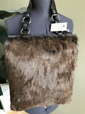 Express Fashion Brown Faux Fur Tote Holiday Gift Idea