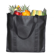 6 Pack Reusable Handle Grocery Tote Bags - Hold 44+ lbs 20 KG - Extra Large & by