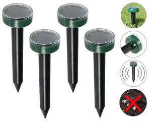 Solar Anti Maulwurf Vertreiber Maulwurfschreck vibration Wühlmausfrei Abwehr Set
