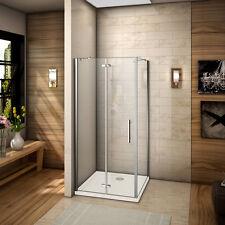 90x80x185cm Porte de douche avec receveur pivotante pliante Pario de douche