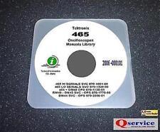 """Tektronix TEK 465 + DM43 + DM44 Manuals Library 17""""x11"""" Diagrams HI+LO Serial CD"""
