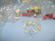 Rare Electro Cube Capacitor Lot and mixed others from radio estate /  a1