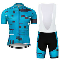 2021 Men's Cycling Jersey Bib Shorts Kits Bike Shirt Pants Clothing Uniforms Set