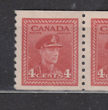 1948 #281(PERF. 9 ½) 4¢  KING GEORGE VI WAR ISSUE COIL ISSUE F-VFNH