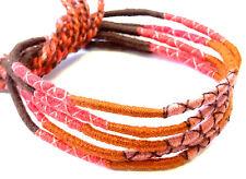 Lot 5 Bracelets Bresiliens de l'Amitié Macramé coton Friendship marron rouge