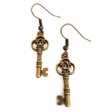 Dangle Vintague Antique Bronze Key Earrings - Alice in Wonderland
