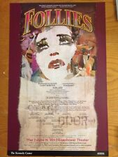 FOLLIES DC Window Card Poster STEPHEN SONDHEIM BERNADETTE PETERS ELAINE PAIGE