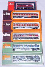 "6x Lima HO DB BR V-221 DIESEL LOCOMOTIVE & ""POP-ART"" Passenger Wagon Set MIB`76!"