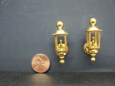 DOLLHOUSE COACH LAMPS/ PAIR/ NON-ELECTRIC