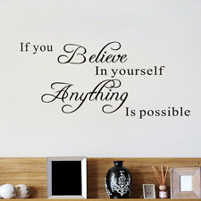 Romantic English Language Believe In Yourself Home Decor Wallpapers Art Mural