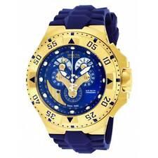 Invicta 18558 Men's Excursion Reserve Blue Dial Blue Silicone Strap Chrono Dive Watch