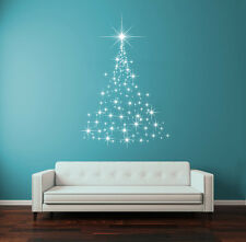 Wall Decal Vinyl Sticker Stars New Year Merry Christmas Tree Snow  r1359
