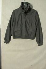 S5650 Converse One Star Women's Large Gray Pin Striped High Collar Zip Up Jacket