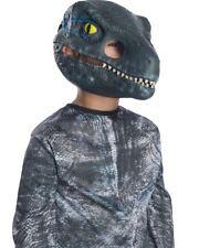 Jurassic World 2 Velociraptor Blue Moveable Jaw Kids Mask One Size