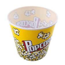 "PLASTIC POPCORN BUCKET - LARGE 7 1/2"" TUB CONTAINER - BPA FREE - MOVIE PARTY NEW"