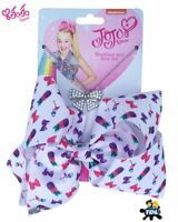 100% Official JoJo Siwa 20cm Signature Patterned Bow And Necklace Set Childrens