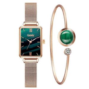 Ladies Dress Fashion Rose Gold Watches Bracelet Set