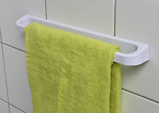 Evideco Bathroom Wall Towel Bar SALI Adhesive or to Be Fixed White