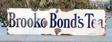 1930 Vintage Old Rarest Brooke Bond's Tea Ad Porcelain Enamel Sign Board London