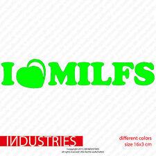 I Love Milfs 16x3 Fun Aufkleber Sticker Auto | JDM OEM Cult Milfhunter Hunter