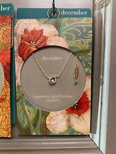 Simply Birthstone Jewelry - Demdaco - December Swarovski Crystal Necklace