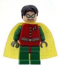 Custom progettato minifigura-Robin con (rosso e verde) stampato su parti Lego