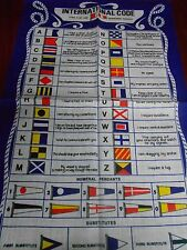 Vintage Teatowel 'International Code' Pure Irish Linen  Brand New