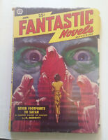 Fantastic Novels Jan 1949 A. Merritt 7 Footprints to Satan January pulp magazine
