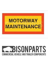 + Camion & Rimorchio Posteriore Marker Board AUTOSTRADA Coppia di manutenzione in alluminio BP76-173